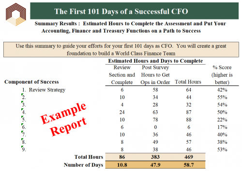 First 101 Days as a Successful CFO Assessment