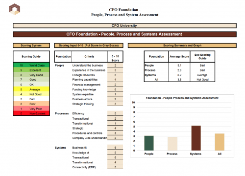 CFO Foundation - People Process System Assessment Tool